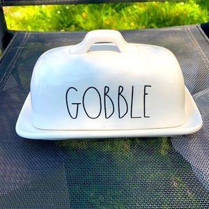 "Rae Dunn ""Gobble"" Butter Dish"